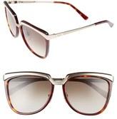 MCM Women's Teacup 55Mm Sunglasses - Black