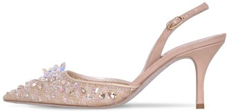 Rene Caovilla 75MM LACE & CRYSTAL SLING BACK PUMPS