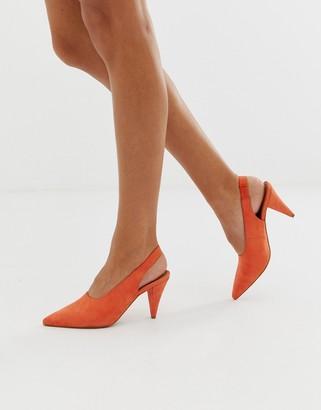 Asos Design DESIGN Stormie slingback mid heels-Red