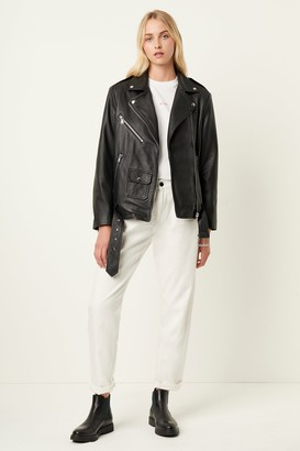 French Connenction Abri Leather Biker Jacket