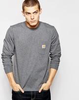 Carhartt Pocket Long Sleeve T-shirt - Grey