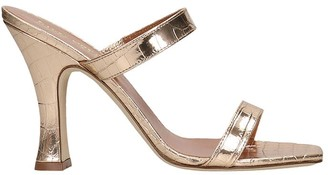Paris Texas Sandals In Platinum Leather