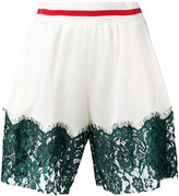MM6 MAISON MARGIELA lace panel shorts - women - Cotton/Polyamide/Viscose - S