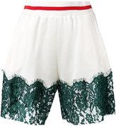 MM6 MAISON MARGIELA lace panel shorts
