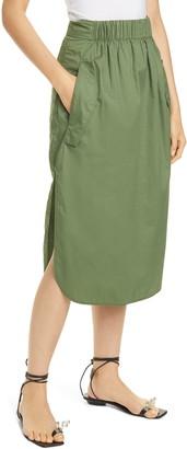 Tibi Featherweight Cotton Twill Skirt