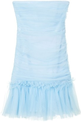 Brognano Strapless Ruched Tulle Dress