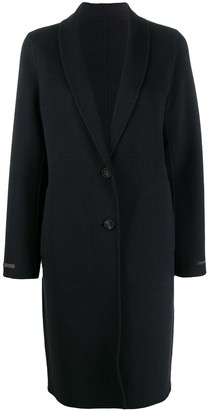 Peserico Single-Breasted Cashmere-Wool Coat