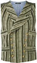 Ermanno Gallamini - striped waistcoat - women - Cotton - L