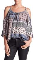 Fifteen-Twenty Fifteen Twenty Printed Cold Shoulder Shirt