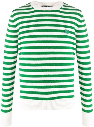 Acne Studios Face striped crewneck jumper