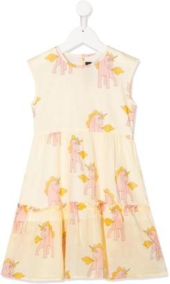 Mini Rodini Unicorn Print Long Dress