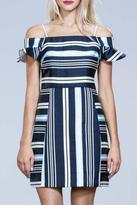 Ark & Co Navy Striped Dress