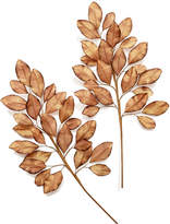 Holiday Lane Set of 2 Gold-Tone Leaves Tree Pick, Created for Macy's