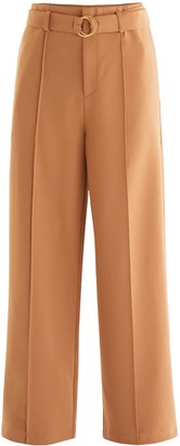 Paisie Ivy Wide Leg Trousers In Camel