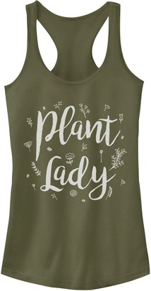 Juniors' Plant Lady Text Tank Top