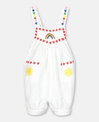 Stella McCartney Hearts Embroidery Linen Jumpsuit, Unisex