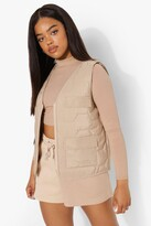 Thumbnail for your product : boohoo Quilted Zip Front Gilet