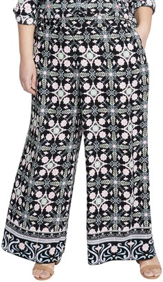Rachel Roy Black Tile Pants (Plus Size)
