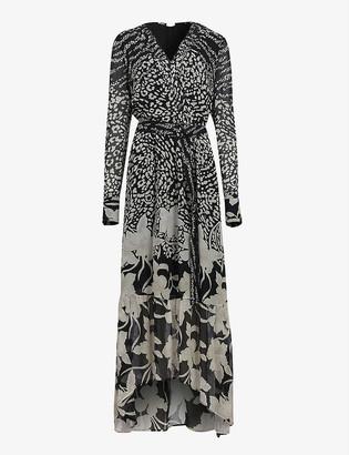 AllSaints Florence floral-print crepe maxi dress