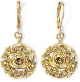 JCPenney MONET JEWELRY Monet Gold-Tone Brown Drop Earrings