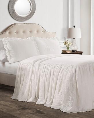 Triangle Home Fashion Fashions 3Pc Ruffle Skirt Bedspread Set