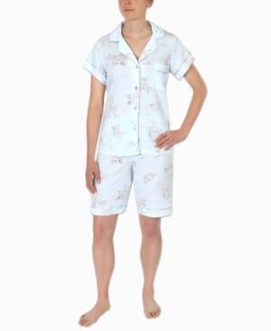 Miss Elaine Floral-Printed Bermuda Shorts Pajama Set