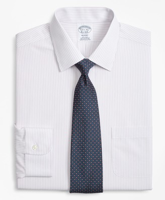 Brooks Brothers Regent Fitted Dress Shirt, Non-Iron Mini Alternating Stripe