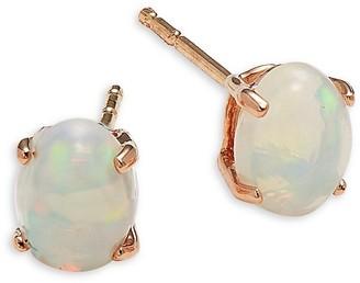 Saks Fifth Avenue 14K Rose Gold & Opal Earrings