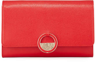 Versace Small Saffiano Crossbody Bag, Red