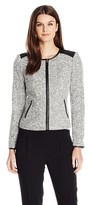 Calvin Klein Boucle Jacket With Zipper.