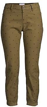 Current/Elliott Women's The Easy Stiletto Polka Dot Skinny Crop Jeans