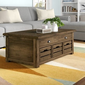 Three Posts Senoia Lift Top Cocktail Table with Storage