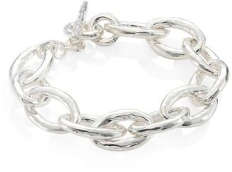Ippolita Classico Mini Sterling Silver Hammered Bastille Link Bracelet