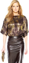 MICHAEL KORS Metallic Lame Top