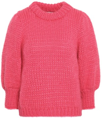 Ganni Julliard Mohair And Wool-blend Sweater