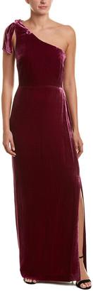 Nicole Miller Silk-Blend Gown