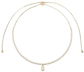 As 29 18k yellow gold pear diamond Indiana choker necklace