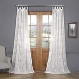 Exclusive Fabrics & Furnishing Patterned Linen Rod-Pocket Single Sheer Curtain Panel
