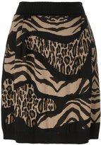 Alberta Ferretti leopard zebra print skirt - women - Virgin Wool - 38