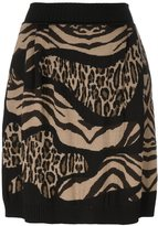 Alberta Ferretti leopard zebra print skirt