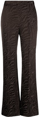 Sandro Abstract-Print Flare Trousers