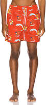 Trunks Aime Leon Dore Block Party Swim in Mineral Red Combo | FWRD
