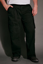 Yours Clothing BadRhino Black Cargo Trousers With Utility Pockets