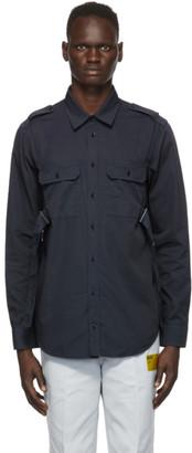 Helmut Lang Navy Twill Parachute Shirt