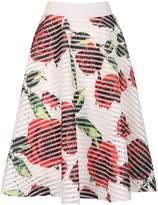 Izabel London Floral Print Rock `N` Roll Skirt