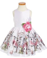 Toddler Girl's Pippa & Julie Polka Dot Sleeveless Dress