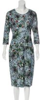 Erdem Long Sleeve Midi Dress