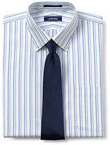 Lands' End Men's Pattern No Iron Supima Pinpoint Buttondown Collar-White