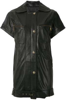 Andrea Bogosian leather short sleeves coat