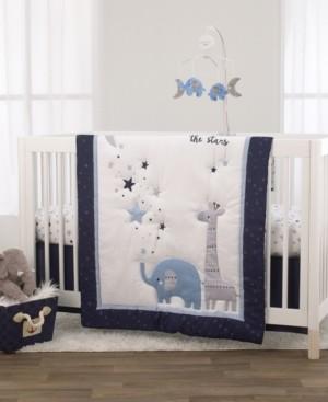 NoJo Safari Moon and Stars 3-Piece Crib Bedding Set Bedding